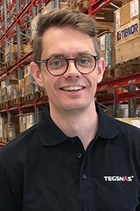 Emil Lundgren, platschef Tegsnäs Logistics